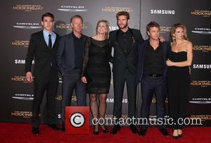 Liam Hemsworth, Luke Hemsworth , Sammantha Hemsworth - LA Premiere of THE HUNGER GAMES: MOCKINGJAY - PART 2 at Microsoft...