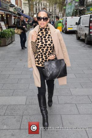 Myleene Klass - Myleene Klass pictured arriving at Global House to host Smooth Radio at Global House, Leicester Square -...