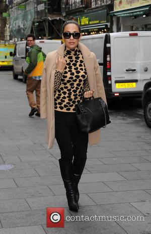 Myleene Klass - Myleene Klass arrives at Global House - London, United Kingdom - Tuesday 17th November 2015