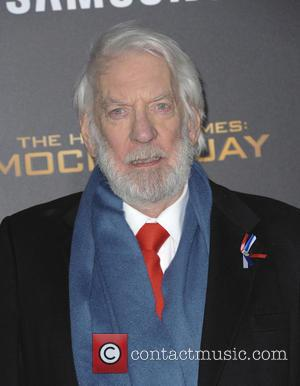 Donald Sutherland - The Hunger Games Mockinngjay Part 2 - Los Angeles, California, United States - Tuesday 17th November 2015