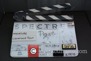 Spectre clapperboard - Bond in Motion the official exhibition of James Bond vehicles that feature in the renowned film series....