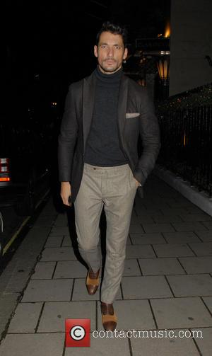 David Gandy - Burberry and Claridge's Christmas Tree Launch Party at Claridge's - London, United Kingdom - Wednesday 18th November...