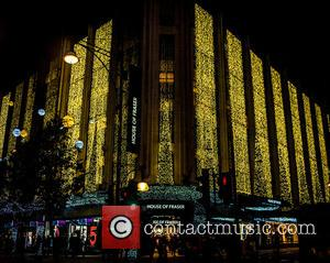 House of Fraser - Shop window displays on London's Oxford Street for the festive season - London, England, United Kingdom...