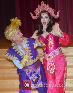 Priscilla Presley , Wayne Sleep - Aladdin - Press Launch held at Milton Keynes Theatre - Arrivals - Milton Keyens,...
