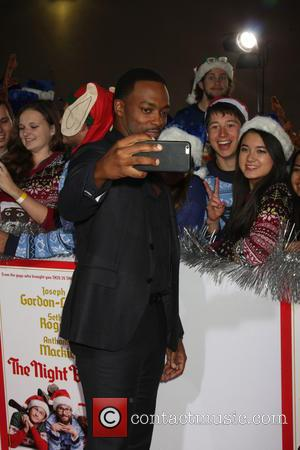Anthony Mackie - Los Angeles World Premiere of 'The Night Before' at The Theatre at The ACE Hotel - Arrivals...