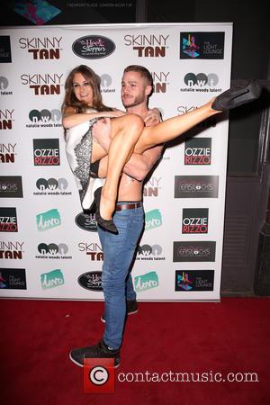 Nikki Grahame , Austin Armacost - Celebrities arrive at The Light Lounge for Skinny Tan product launch party - London,...