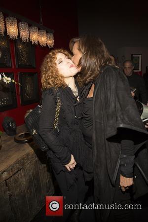 Bernadette Peters and Donna Karan