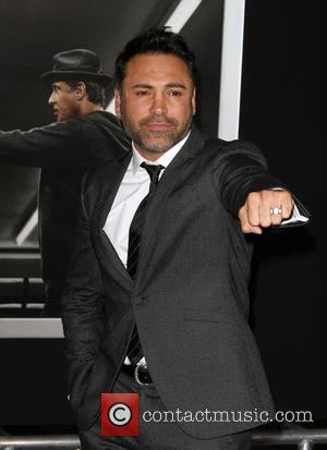 Oscar De La Hoya - Premiere Of Warner Bros. Pictures'