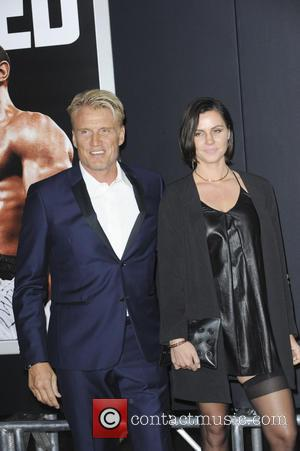 Dolph Lundgren , Jenny Sanderss - 'Creed' Los Angeles Premiere - Arrivals - Los Angeles, California, United Kingdom - Friday...