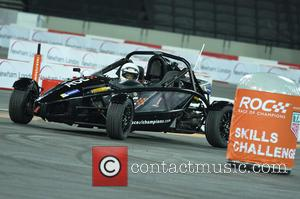 Denise Lewis - Celebrities and famous drivers take part in 'Race of Champions' at the Olympic Stadium in London at...