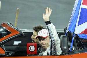 Sir Chris Hoy - Celebrities and famous drivers take part in 'Race of Champions' at the Olympic Stadium in London...