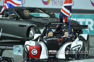 Jenson Button - Celebrities and famous drivers take part in 'Race of Champions' at the Olympic Stadium in London at...