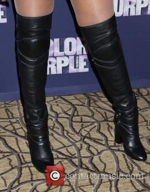 Jennifer Hudson's boots - Meet and greet with the cast of the Broadway revival of The Color Purple, held at...