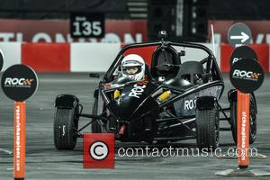 Ella Eyre - Celebrities and famous drivers take part in 'Race of Champions' at the Olympic Stadium in London at...