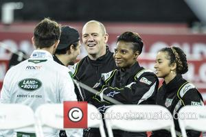 Mike Tindall, Denise Lewis and Ella Eyre