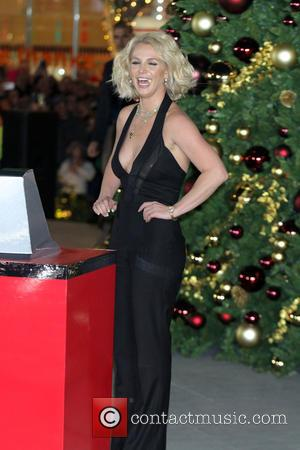 Britney Spears - Singer Britney Spears flips the switch during the Christmas tree-lighting ceremony at The LINQ Promenade - Las...