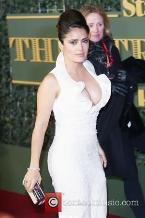 Salma Hayek - The Evening Standard Theatre Awards held at the Old Vic - Arrivals - London, United Kingdom -...