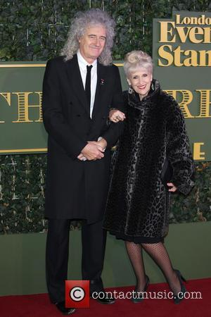 Brian May , Anita Dobson - The Evening Standard Theatre Awards held at the Old Vic - Arrivals - London,...