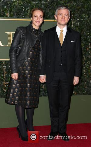 Amanda Abbington and Martin Freeman