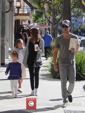 Jessica Alba, Cash Warren, Honor Warren , Haven Warren - Jessica Alba out and about with her husband Cash Warren...