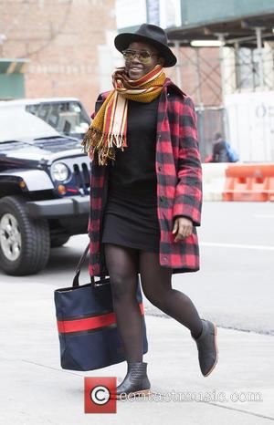Lupita Nyong'o - Lupita Nyong'o arrives for the matinee of 'Eclipsed' at The Public Theater - New York, New York,...