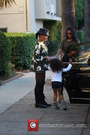 Mel B, Melanie Brown, Phoenix Chi Gulzar , Madison Brown Belafonte - Mel B seen with eldest and youngest daughters...