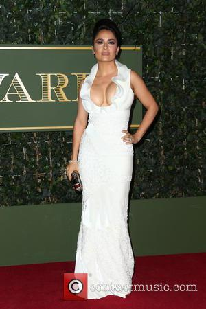Salma Hayek - London Evening Standard Theatre Awards held at The Old Vic - Arrivals - London, United Kingdom -...