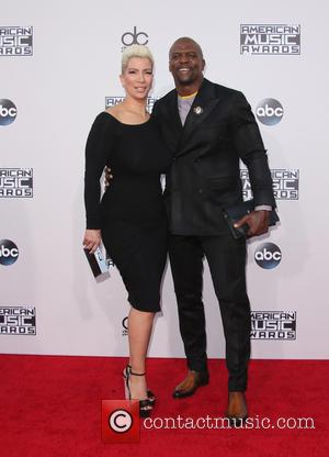 Terry Crews , Rebecca King-Crews - American Music Awards 2015 (AMA's) - Arrivals at Microsoft Theater, American Music Awards -...