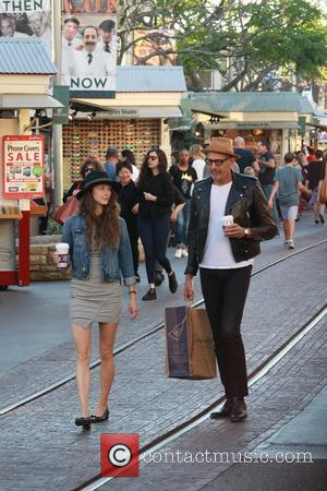 Jeff Goldblum , Emilie Livingston - Jeff Goldblum and wife Emilie Livingston shopping at The Grove in West Hollywood. -...
