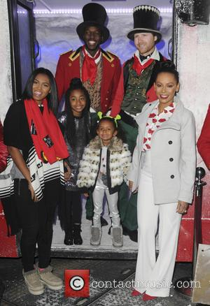Mel B , Melanie Brown - Mel B and daughter board the Westfield Shopping Centre Christmas bus at Sheperd's Bush...
