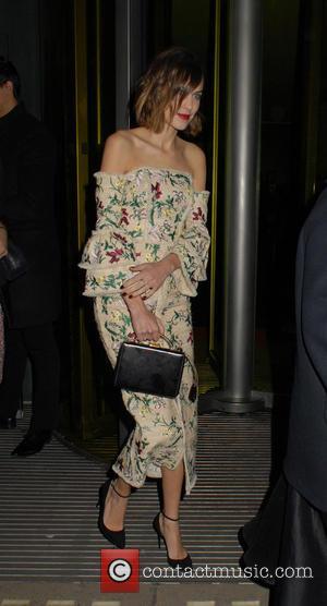 Alexa Chung - The British Fashion Awards 2015 at London Coliseum - Departures at The British Fashion Awards - London,...