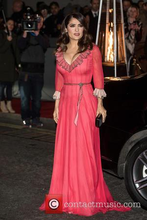 Salma Hayek - British Fashion Awards held at the Coliseum - outside arrivals. at British Fashion Awards - London, United...