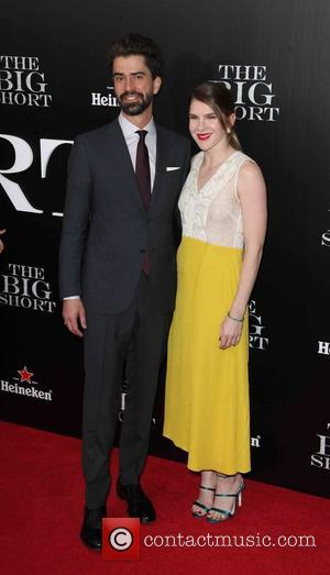Hamish Linklater , Lily Rabe - New York premiere of 'The Big Short' at The Ziegfeld Theatre - Red Carpet...