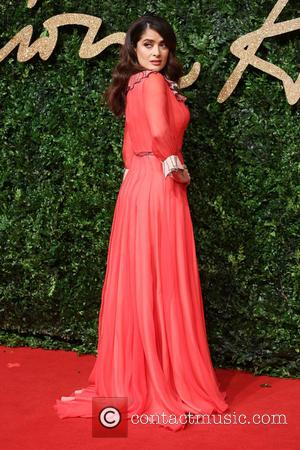 Salma Hayek - The British Fashion Awards 2015 - Arrivals at The British Fashion Awards - London, United Kingdom -...