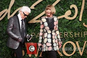Karl Lagerfeld , Anna Wintour - The British Fashion Awards 2015 - Arrivals at The British Fashion Awards - London,...