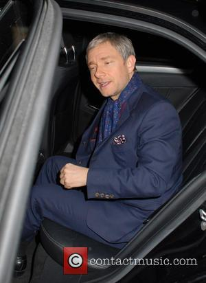 Martin Freeman Buys Hot Drinks For Protesting Doctors