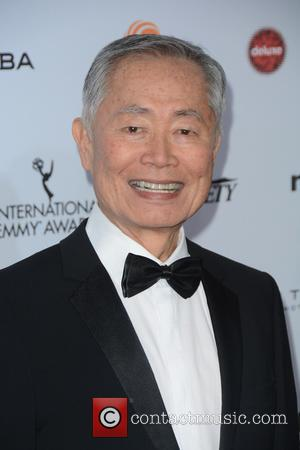 George Takei - 43rd International Emmy Awards - Red Carpet Arrivals at Emmy Awards - New York, New York, United...