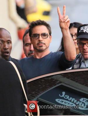 Robert Downey , Jr - Robert Downey, Jr. seen arriving at the ABC studios for Jimmy Kimmel Live! - Los...