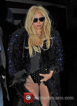 Lady Gaga - Lady Gaga seen leaving a London Recording Studio after 12 hours inside with producer and songwriter Mark...