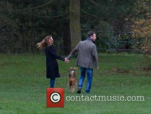 Geri Horner , Christian Horner - Geri Halliwell and husband Christian Horner walk their dogs - London, United Kingdom -...