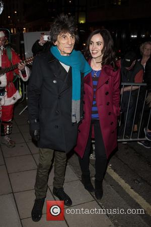 Ronnie Wood , Sally Humphries - Stella McCartney shop Christmas lights switch on. - London, United Kingdom - Wednesday 25th...