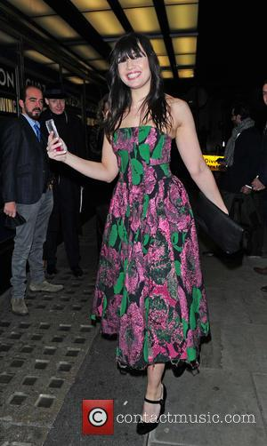 Daisy Lowe - Screening of La Legende de La Palme d'Or at The Curzon Mayfair - Outside Arrivals at Curzon...