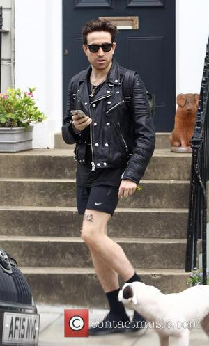 Nick Grimshaw - Nick Grimshaw arrives home wearing shorts on a cold day in London. After a change of clothing...