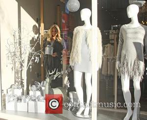 Danielle Armstrong - TOWIE star Danielle Armstrong putting up xmas decorations at Danni's Boutique in Hornchurch,Essex at Danni's Boutique -...