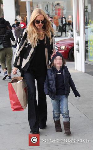 Rachel Zoe , Skyler Morrison Berman - Rachel Zoe takes her son Skyler shopping at Gap and a bookstore in...