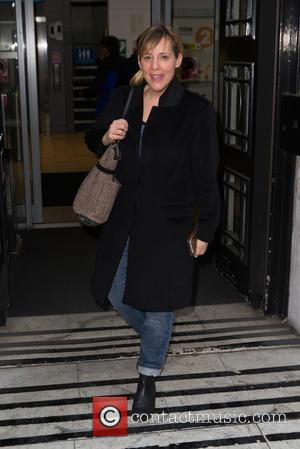 Mel Giedroyc - Mel Giedroyc arriving at the BBC Radio 2 studios at BBC Western House - London, United Kingdom...