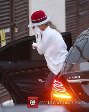 Rita Ora - 'X Factor' judges Rita Ora covers her face as she arrives at rehearsals at x factor -...