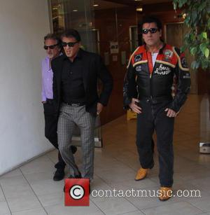 Sylvester Stallone , Chuck Zito - Sylvester Stallone and Chuck Zito seen leaving a building with friends in Beverly hills...