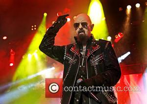 Rob Halford , Judas Priest - Judas Priest performing on their 'Redeemer of Souls World Tour' at Manchester O2 Apollo...
