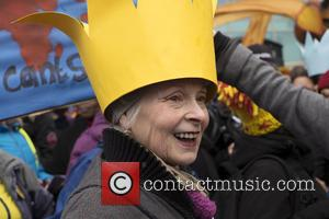 Vivienne Westwood - Vivienne Westwood and Jeremy Corbyn join thousands in London for the 2015 Climate March - London, United...